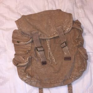 UO Ecote vintage tan canvas backpack